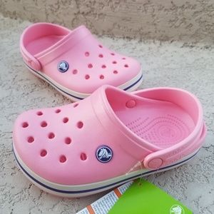 Crocs Crocband Girls Clogs Peony Pink/Stucco SIZES